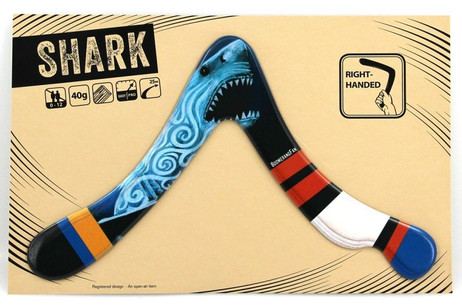 Boomerang SHARK - 40 gr - two-bladed-Boomerang for right-handers