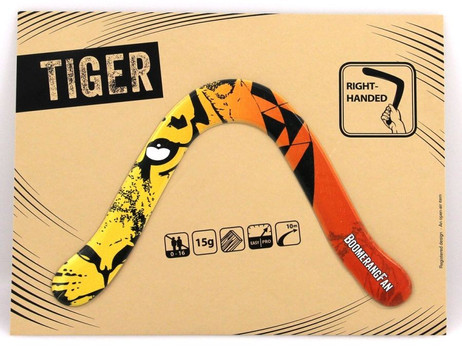Boomerang TIGER - 15 gr - two-bladed-Boomerang for right-handers