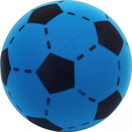 Soft Ball aus Schaumstoff, Schaumstoffball, blau - schwarz