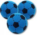 3 Stück Soft Ball blau- schwarz aus Schaumstoff von Ludomax