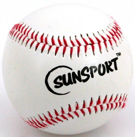 Sunsport Baseball mit Kork-Kern, weiß