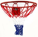 American Basketballring, spring-mounted, from massiv steel - for dunkings