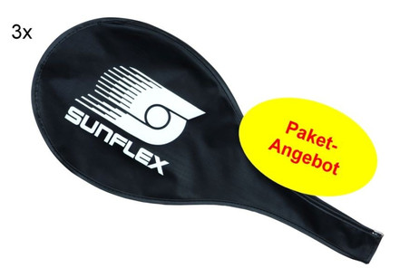 3 piece package of Sunflex Racket Cover for Badminton