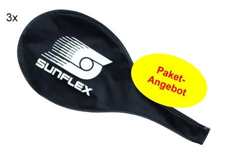 Dreierpaket Sunflex Schlägercover für Badmintonschläger