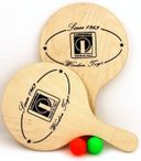 Beachball Set wood, Made in Italy