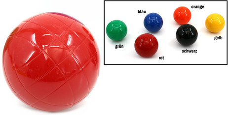 Resin - Balls for Croquet or Boccia, diameters approx.. 90 mm, weight approx.. 420 g