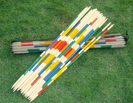 Riesen Mikado, Spiel aus Holz mit Tasche