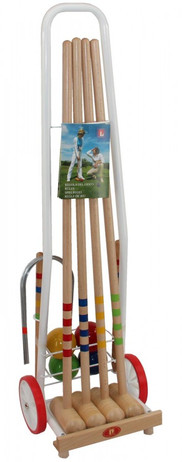 CROQUET BASIC - cart for 4 players, Quality made in Italy
