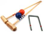 Croquet Bat Set blue - orange, 2 pc. 100cm Bats, balls and gates, by ludomax