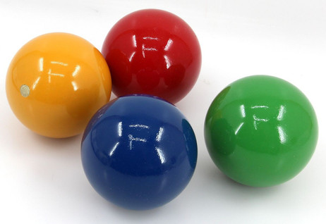 4 pc. balls for Croquet / Boccia, diameters approx. 100 mm, weight approx. 540 g