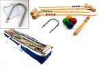 CROQUET - Standard for 4 players in blue carry bag, Quality made in Italy