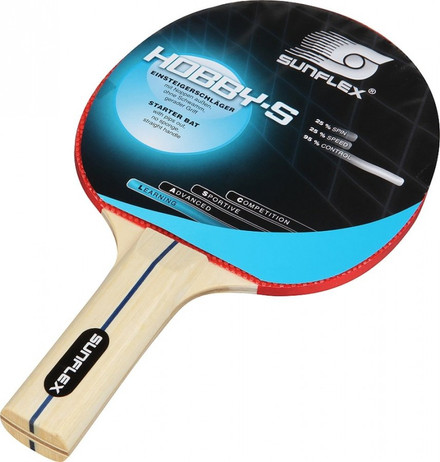 Hobby - S, Table Tennis bat for beginners made by Sunflex