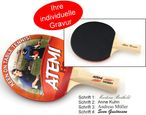 Tabletennis Bat Atemi HOBBY glad/glad concave with engraving