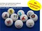 50 piece table tennis ball / ball bingo, individually designed ball with imprint