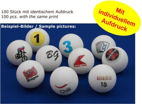 100 piece table tennis / bingo ball individually designed ball with imprint