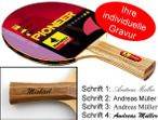 Table-Tennis-Racket Pioneer 2-Star with engravement Image 1