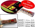 Table-Tennis-Racket Match 4-Star with engraving Image 1