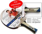 Timo Boll Platin - Edition, Table-Tennis-Bat from Butterfly with engravement