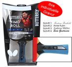Timo Boll Black - Edition, table tennis bat by Butterfly with gift engraving 001