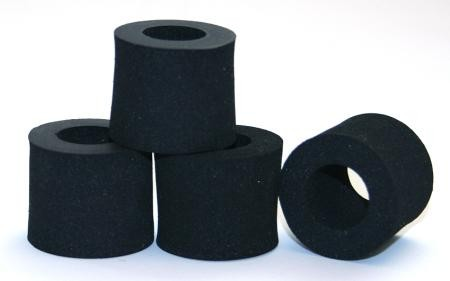 Foam rubber tire BLACK MAGICMoosgummi, soft for rear, Sigma (4 pieces)