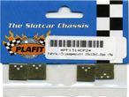 Fahrwerk Trimmgewicht 15x13x1,2mm (Messing), für Plafit Slotcar - Fahrwerk