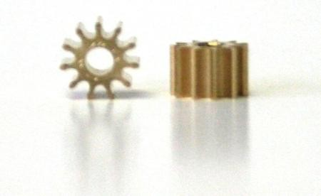 Engine pinion - 5,5mm 11Z for 2mm motor shaft, brass, 2 pieces, Slot.it SIPI11