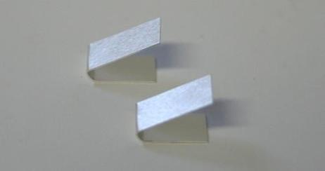 Anlötclip Kupfer versilbert (2 Stück), für Slotcar