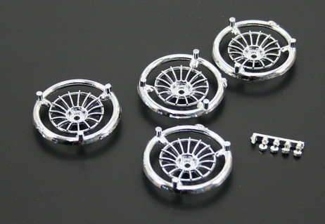 Rim bit spokes Racing OZ chrome 19 mm (4 pcs.) for Slotcar