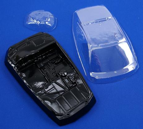 Leichtbauset für Porsche RSR Scaleauto 1:24 Slotcar, Scheibe Inlay Scheinwerfer