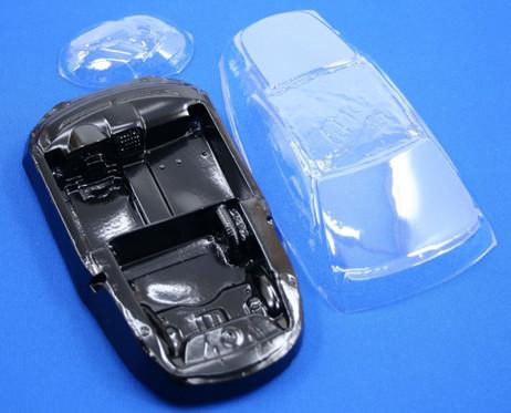 Leichtbauset für Jaguar XKR Scaleauto 1:24 Slotcar, Scheibe Inlay Scheinwerfer