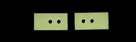 GFK Unterlegplatten Vorderachse für 1:24, SPP4628 Schöler Slotcar Chassis